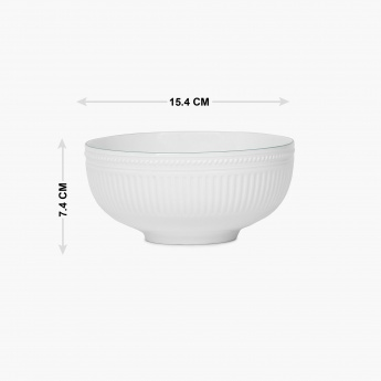 Altius Regal Ribbed Ceramic Cereal Bowl