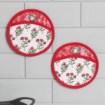 Meadows Garden Cotton Pot Holder Set -2 Pcs