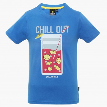 SMILEY Chill Out Crew Neck T-Shirt