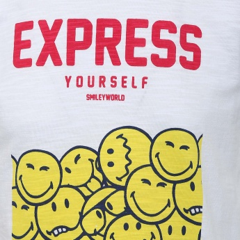SMILEY Express Happiness Crew Neck T-Shirt