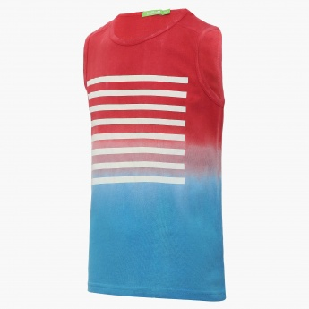 BOSSINI Ombre Striped Sleeveless T-Shirt