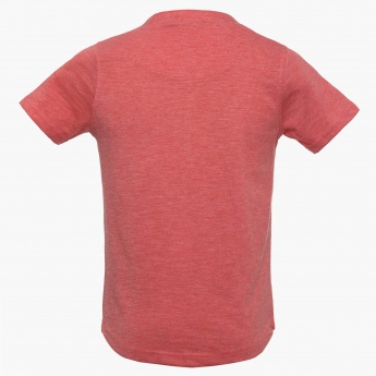 BOSSINI Solid Henley Neck T-Shirt