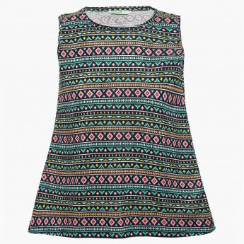 BOSSINI Tribal Print Sleeveless Top