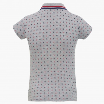 BOSSINI Printed Polo Neck Tee