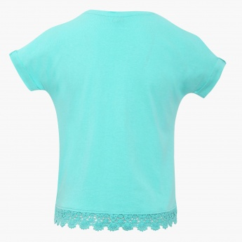 BOSSINI Lace Trim Crop Top