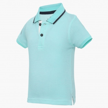 JUNIORS Solid Polo Neck Tee