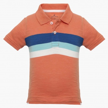 JUNIORS Printed Polo Neck T-Shirt