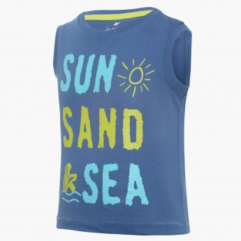 JUNIORS Sunny Vibes Sleeveless T-Shirt