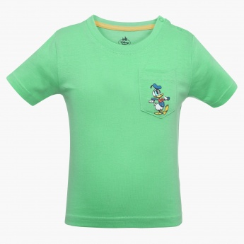 JUNIORS Mickey Mouse Patch Pocket T-Shirt