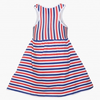 JUNIORS Striped Sleeveless Dress