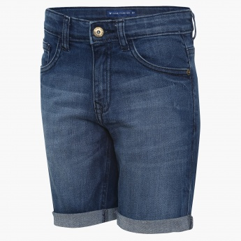 FAME FOREVER Kids Stonewashed Denim Shorts