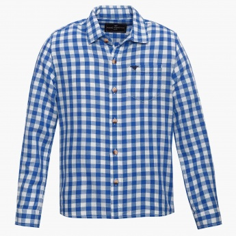 FAME FOREVER Gingham Check Full Sleeves Shirt