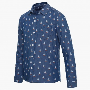 FAME FOREVER Nautical Print Full Sleeves Shirt
