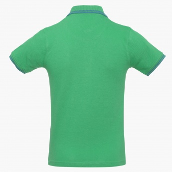 FAME FOREVER Two-Tone Polo Neck T-Shirt
