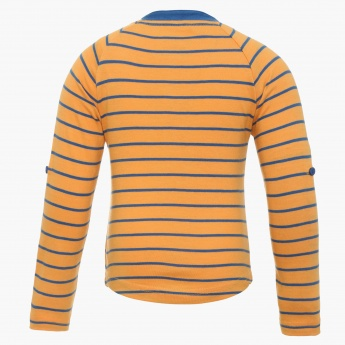FAME FOREVER Striped Raglan Sleeves T-Shirt