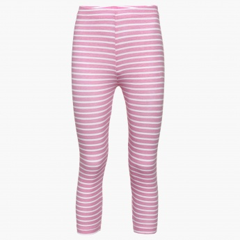 FAME FOREVER Striped 3/4th Leggings