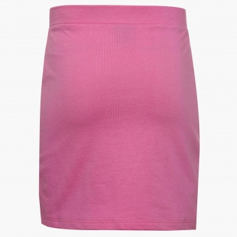 FAME FOREVER Solid Front Tie-Up Skirt