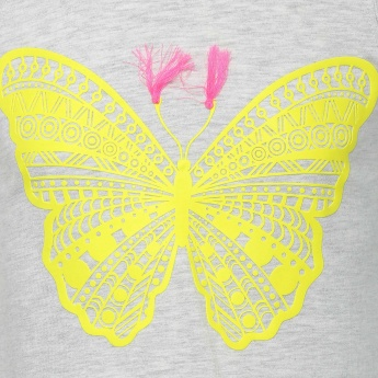 FAME FOREVER Butterfly Print Sleeveless Top