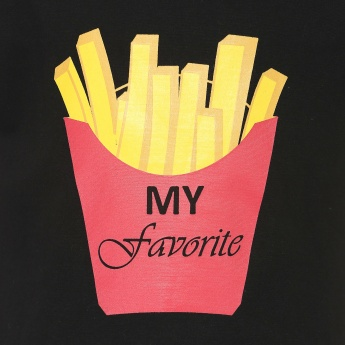 FAME FOREVER French Fry Crop Top