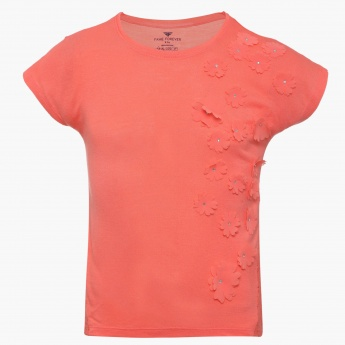 FAME FOREVER Applique Floral Top