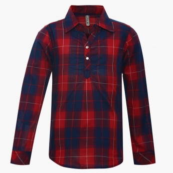 LEE COOPER Checked Shirt Collar Blouse