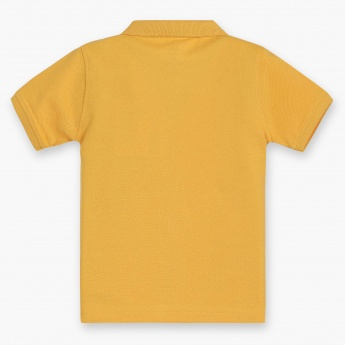 JUNIORS Solid Polo Neck T-Shirt