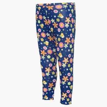 JUNIORS Floral Print Leggings