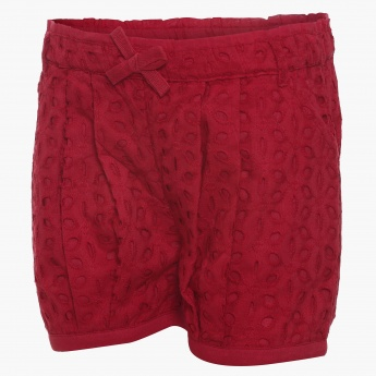 JUNIORS Embroidered Balloon Shorts