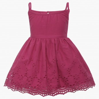 JUNIORS Schiffli Summer Dress