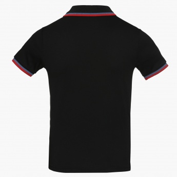 KAPPA Solid Polo Neck Tee
