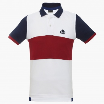 KAPPA Striped Polo Neck T-Shirt