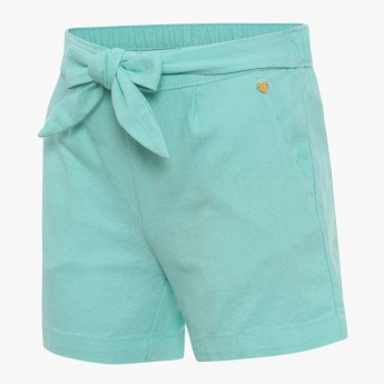 BOSSINI Solid Bow Detail Shorts
