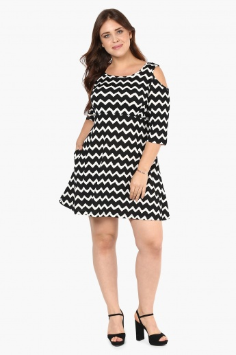 NEXUS Pocketed Cold Shoulder Dress