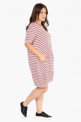 NEXUS Striped Patchwork Dress