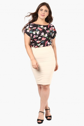 NEXUS Floral Print Tulip-Back Top