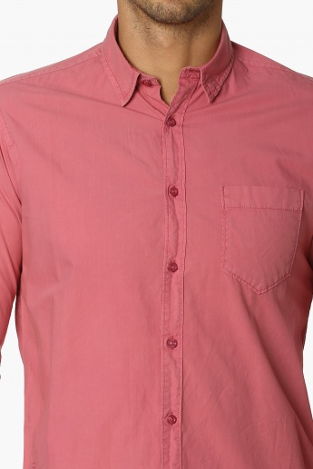PEPE JEANS Solid Cotton Shirt
