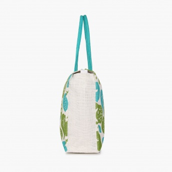 Livia Leafy Shopping Jute Bag