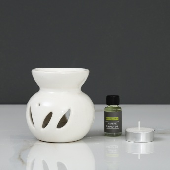 Serene Jasmine Oil Burner Set