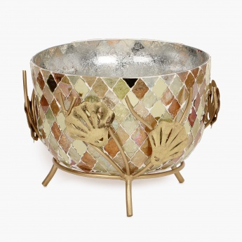 Galaxy Calvin Mosaic Bowl With Leaf Stand