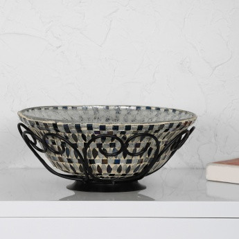 Galaxy Hewitt Mosaic Bowl With Leaf Stand