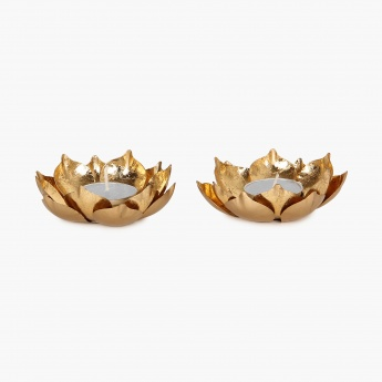 Galaxy Majestic Lotus Tea Light Holder Set-2pcs