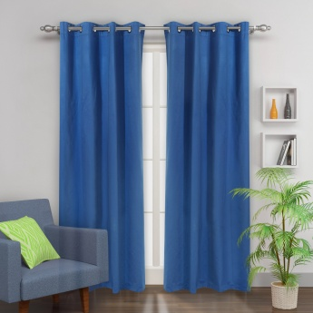Colour Connect Blackout Door Curtain - Set Of 2