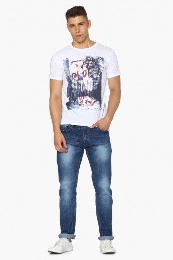 PEPE JEANS Chest Imprint Crew Neck T-Shirt