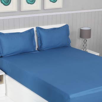 Colour Connect Double Bedsheet Set-3pcs King Size