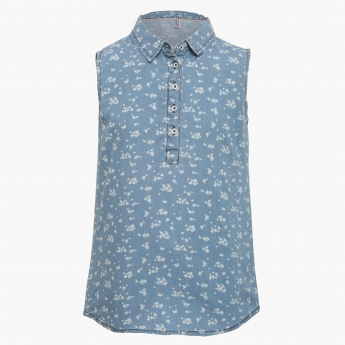 LEE COOPER JUNIORS Floral Print Sleeveless Top