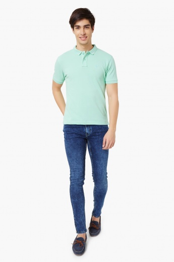 WRANGLER Solid Polo Neck T-Shirt
