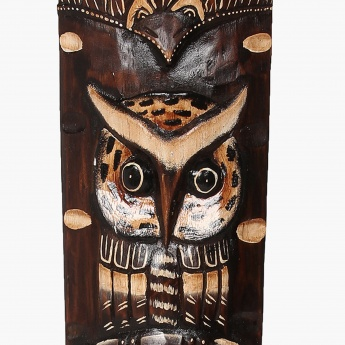 Splendid Owl Wooden Mask