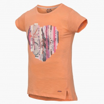 LEE COOPER JUNIORS Collage Heart Crew Neck Tee