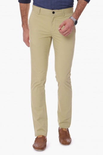 FAME FOREVER Solid Chino Trousers