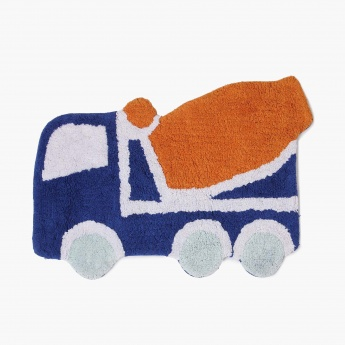 Adventures Of U-Tron Automobile Shape Bathmat